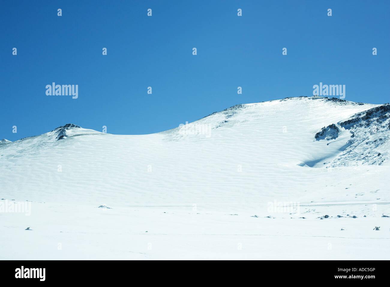 Paysage de montagne enneigée Photo Stock