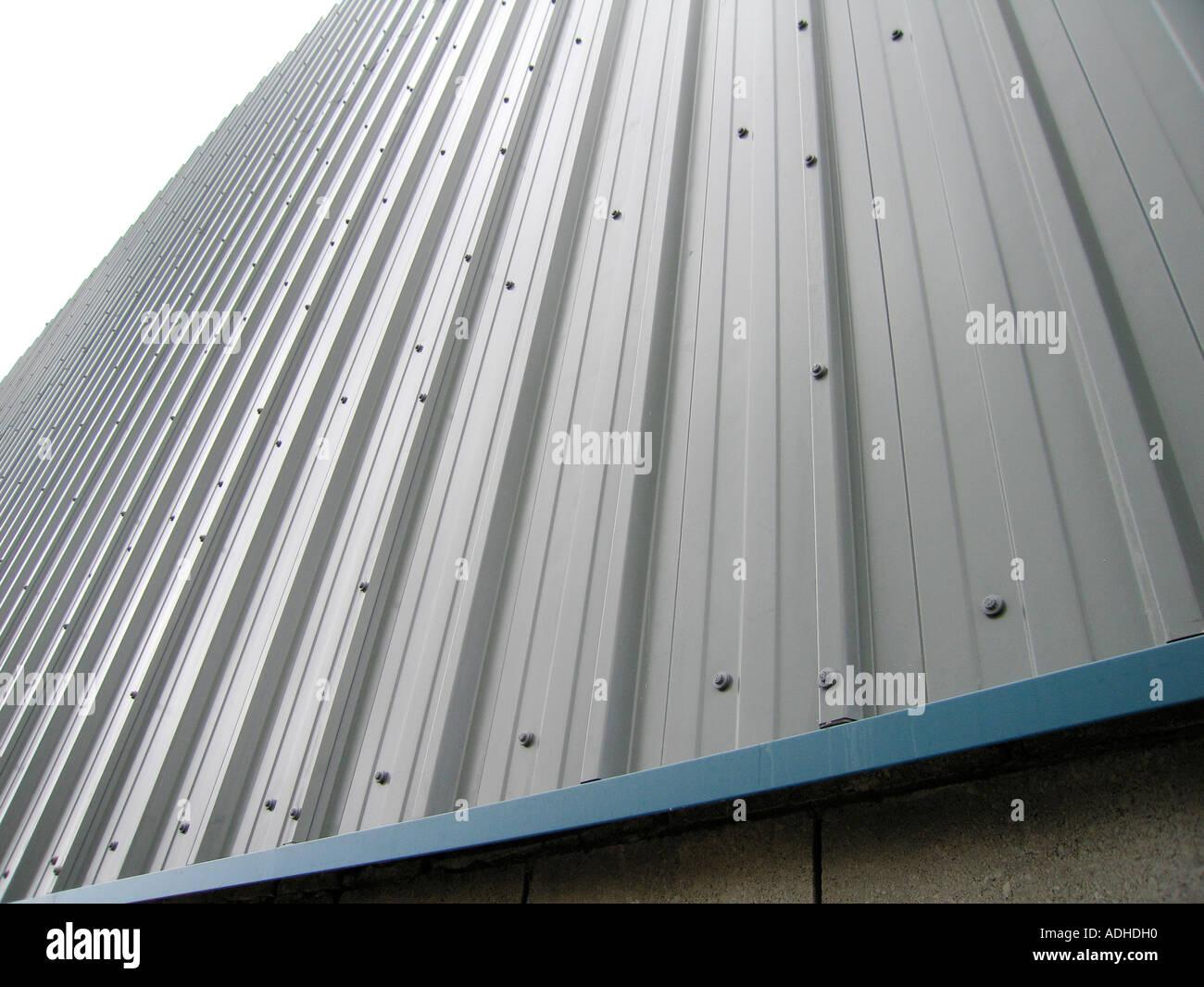 Close up de l'acier industriel feuille profilées Banque D'Images