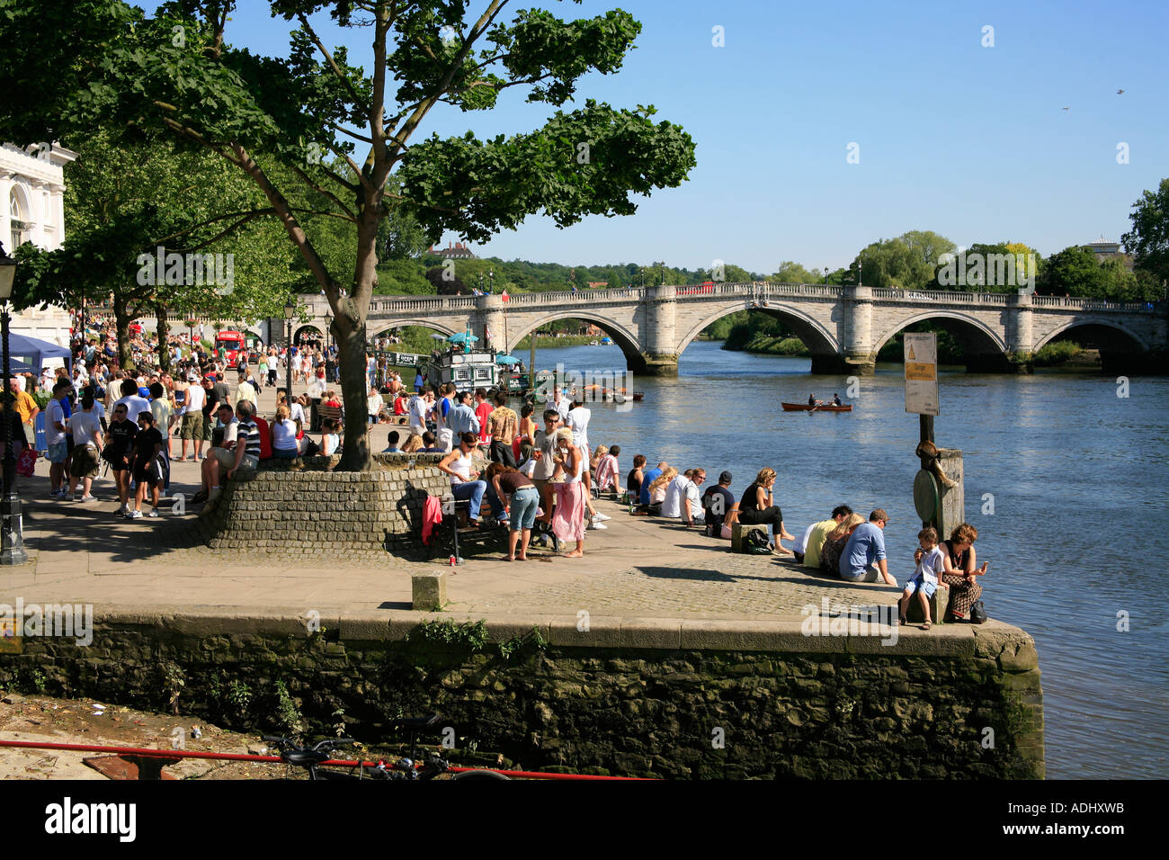 Le pont de Richmond à Londres Thames Surrey Photo Stock