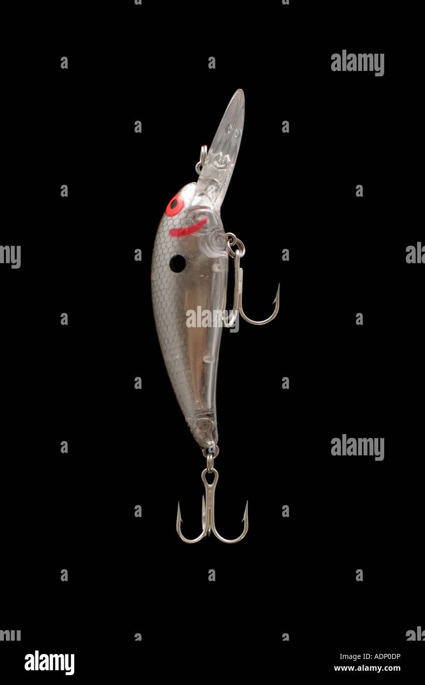 Objet de la série de pêche isolé sur blanc appât cuillère Photo Stock