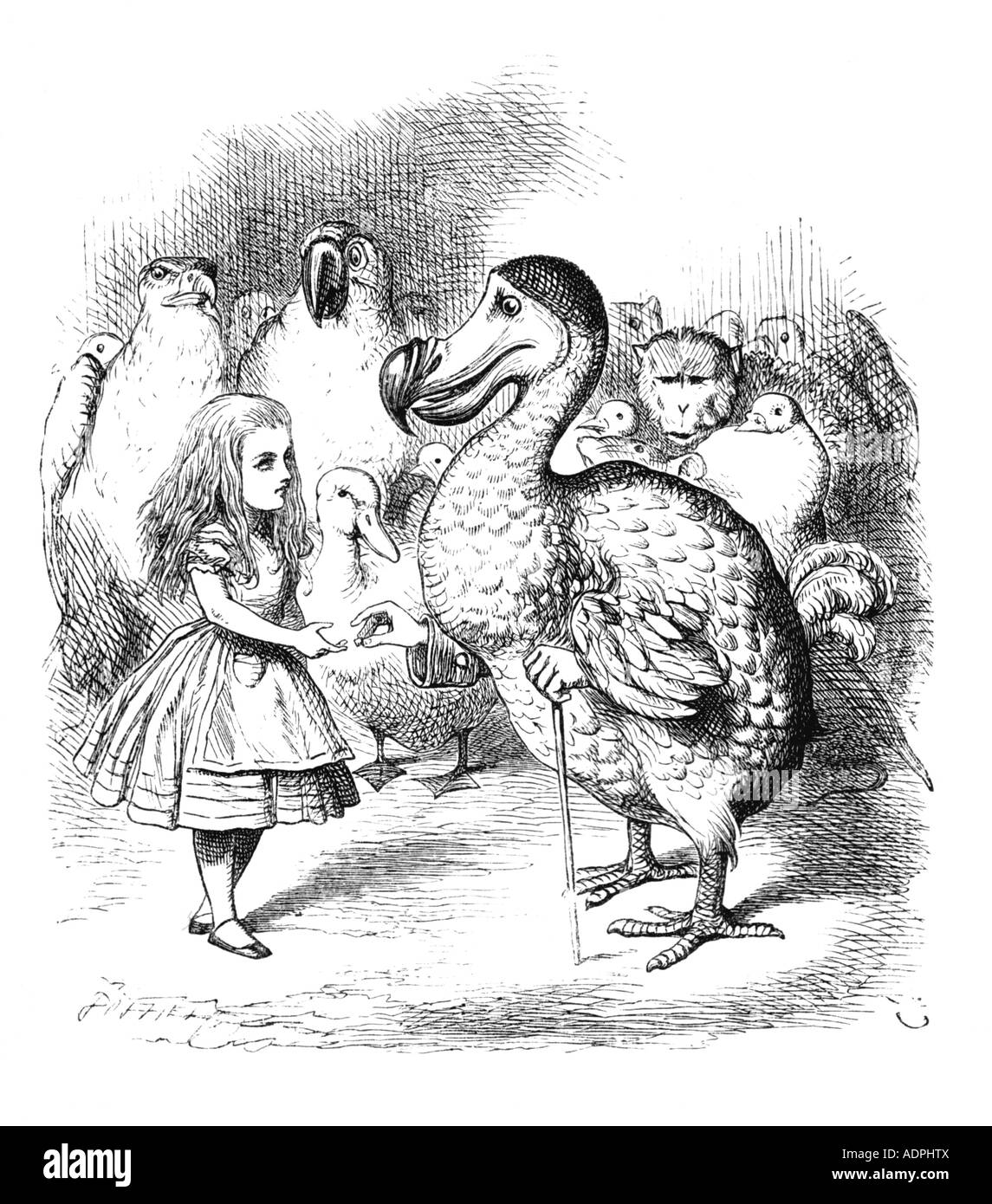Les illustrations de Lewis Carroll, Alice au Pays des Merveilles par John Tenniel Photo Stock