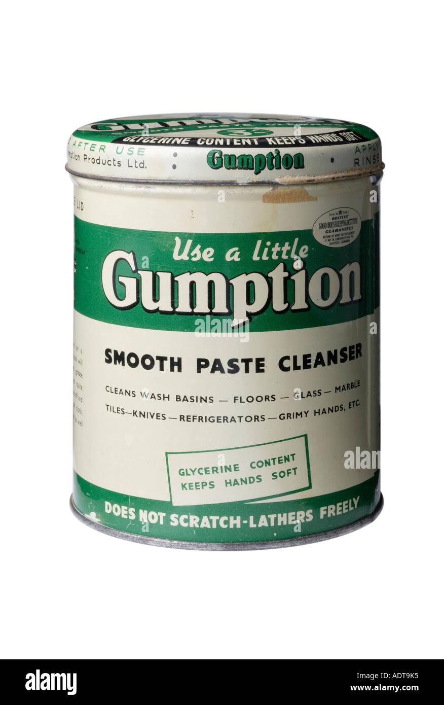 Ancienne boite de 1950 Jugeotte Pâte lisse cleanser Photo Stock