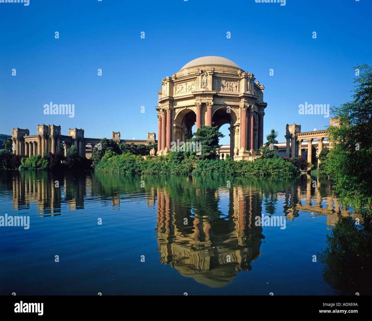 USA California San Francisco le Palais des Beaux Arts Photo Stock