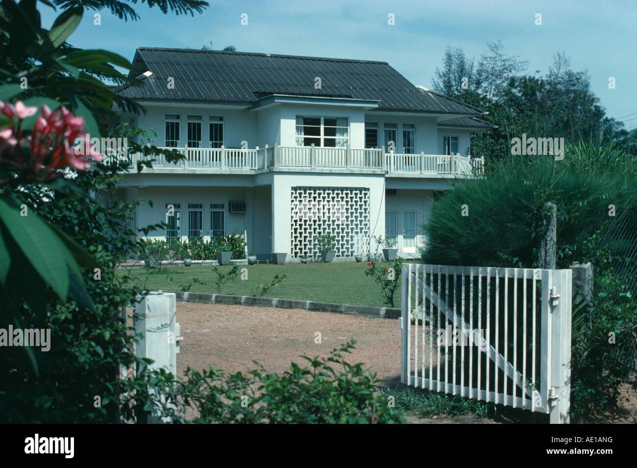 Lafrique de louest nigeria lagos classe moyenne maison individuelle dans la banlieue de la capitale