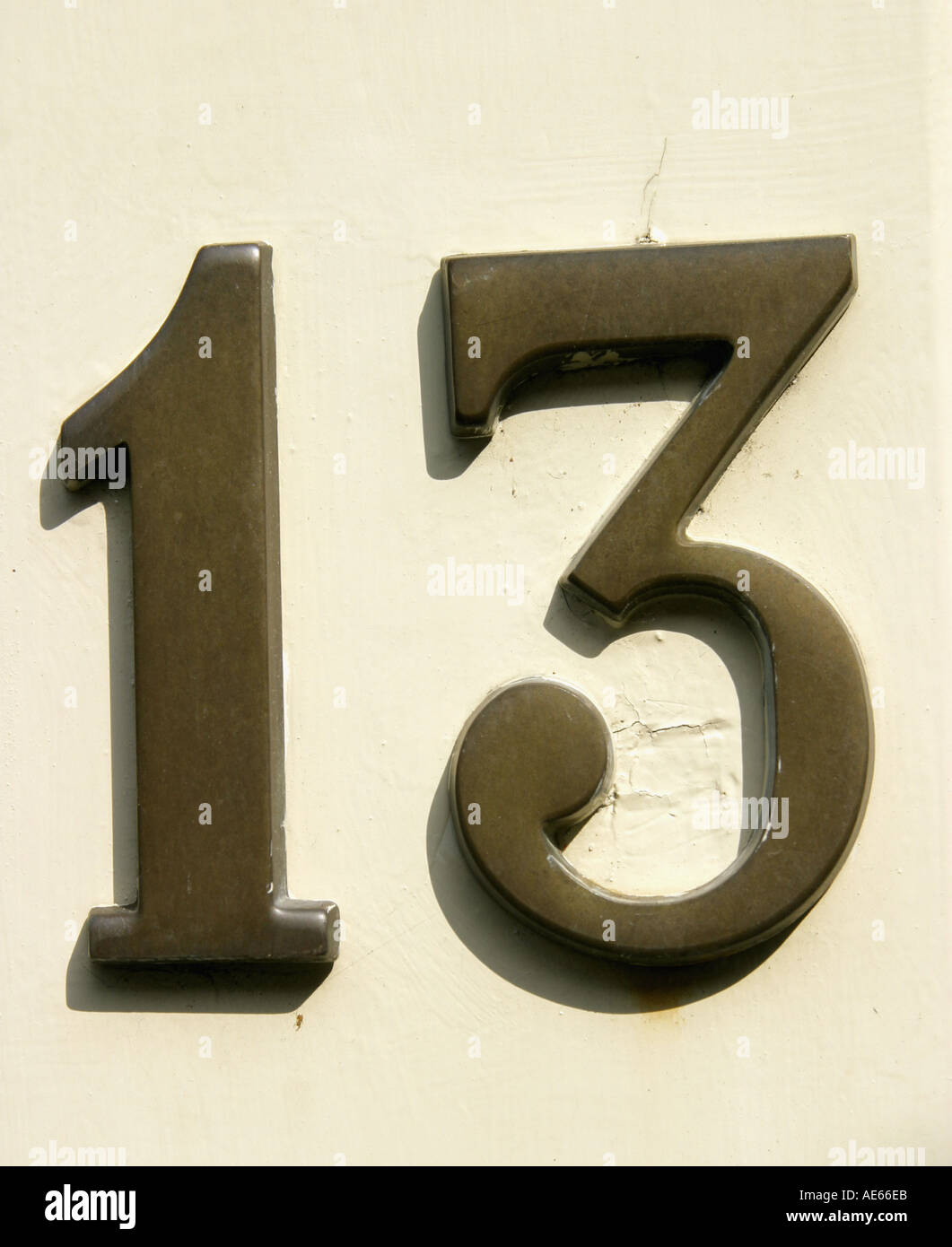 Un certain nombre 13 13 Trois concept compter Photo Stock