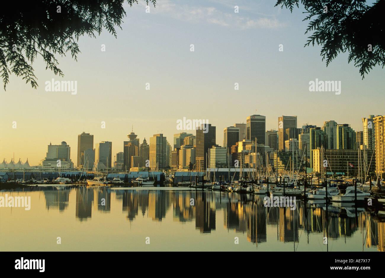 Le centre-ville de Stanley Park Vancouver BC Canada Photo Stock
