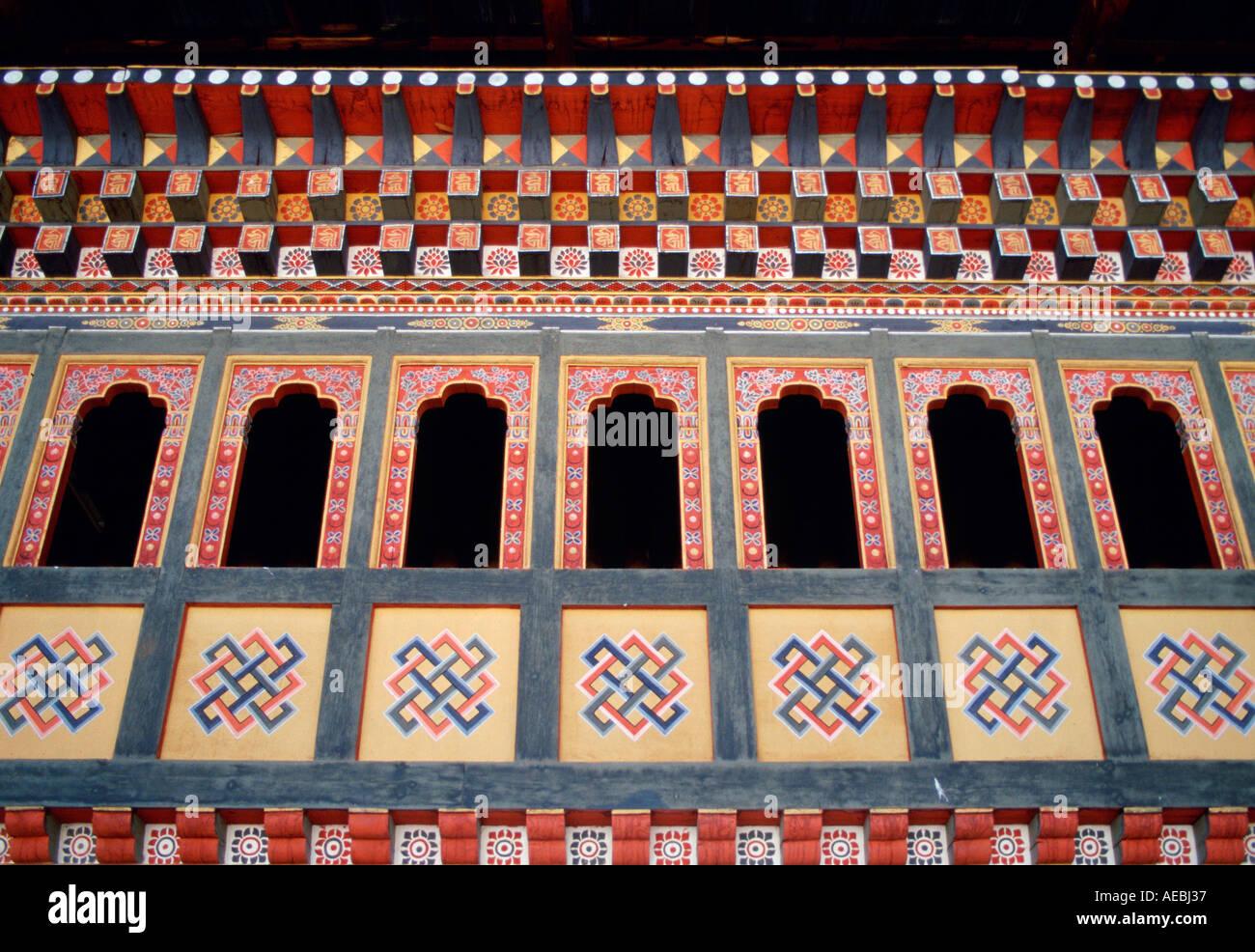Le roi s Palace Tashichhodzong Bhoutan Photo Stock