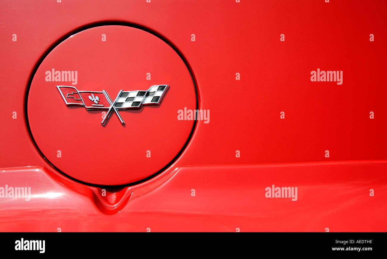 Logo Chevrolet Corvette Vieille Voiture Americaine Vehicule L