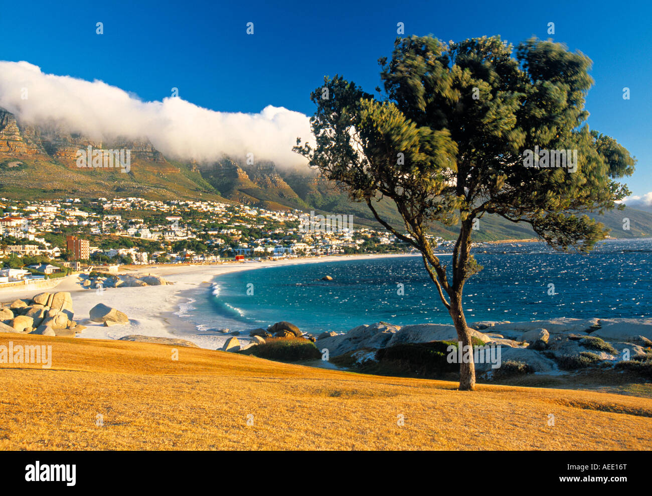 Clifton Bay et de la plage, Le Cap, Afrique du Sud Photo Stock
