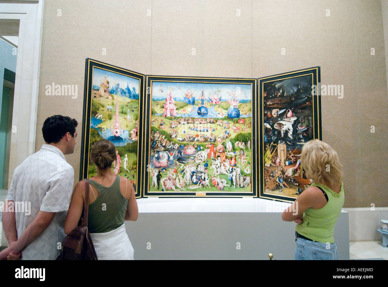 Le Jardin des délices de Jérôme Bosch dans le Museo del Prado, Madrid Espagne Photo Stock
