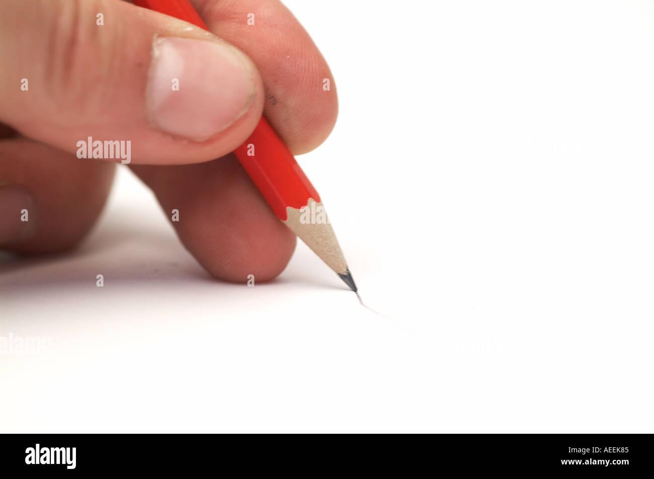 Écrire écriture écrivain attirer l'artiste art dessin au crayon papier artistique page blanche bloc note memo écrivains idée doodl doodle scribble Photo Stock
