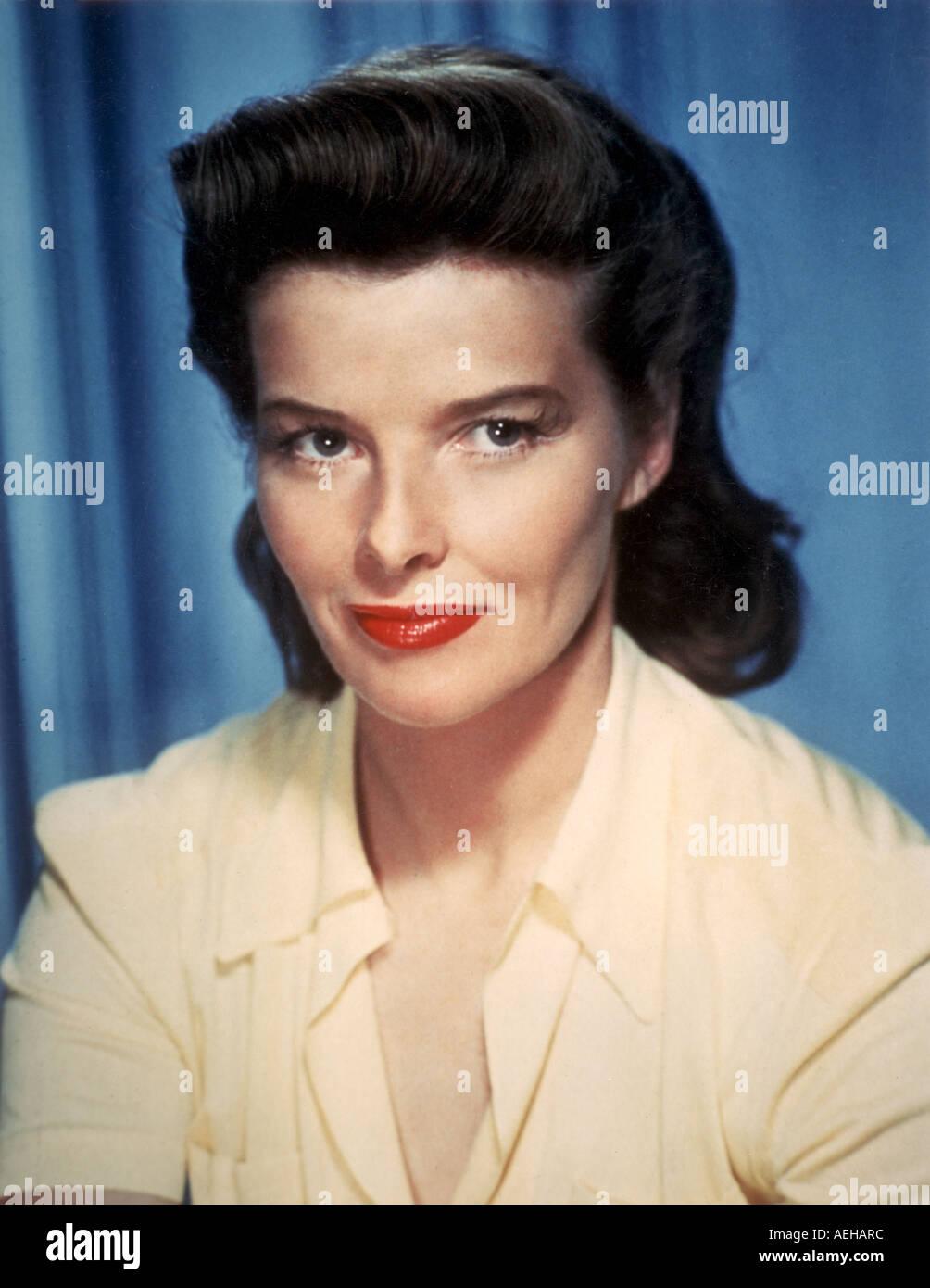 KATHARINE HEPBURN (1907-2003) Actrice américaine dans les années 1950 Photo Stock