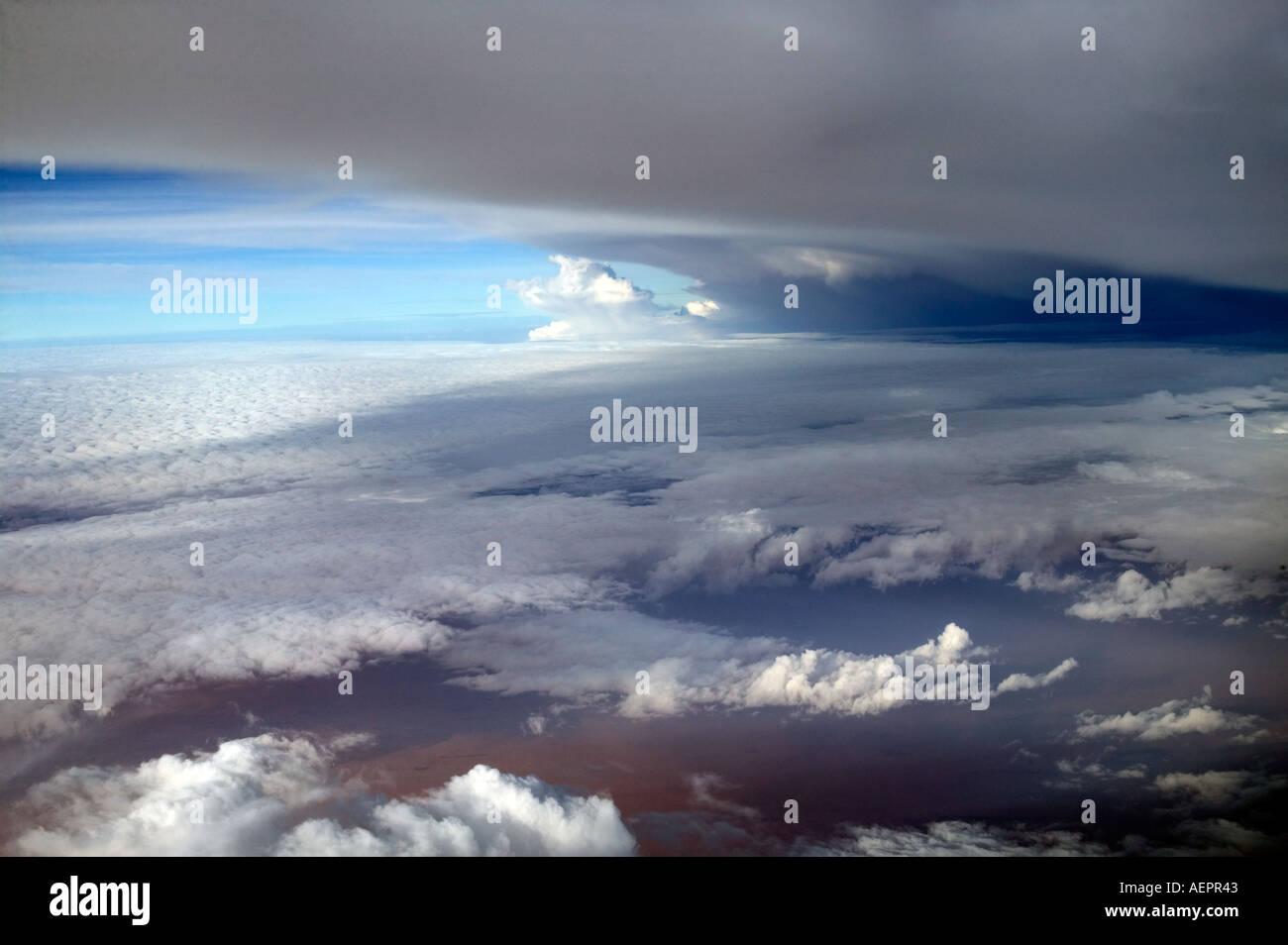 Menaces sur l'Afrique de l'est vu d'un avion de passagers Banque D'Images