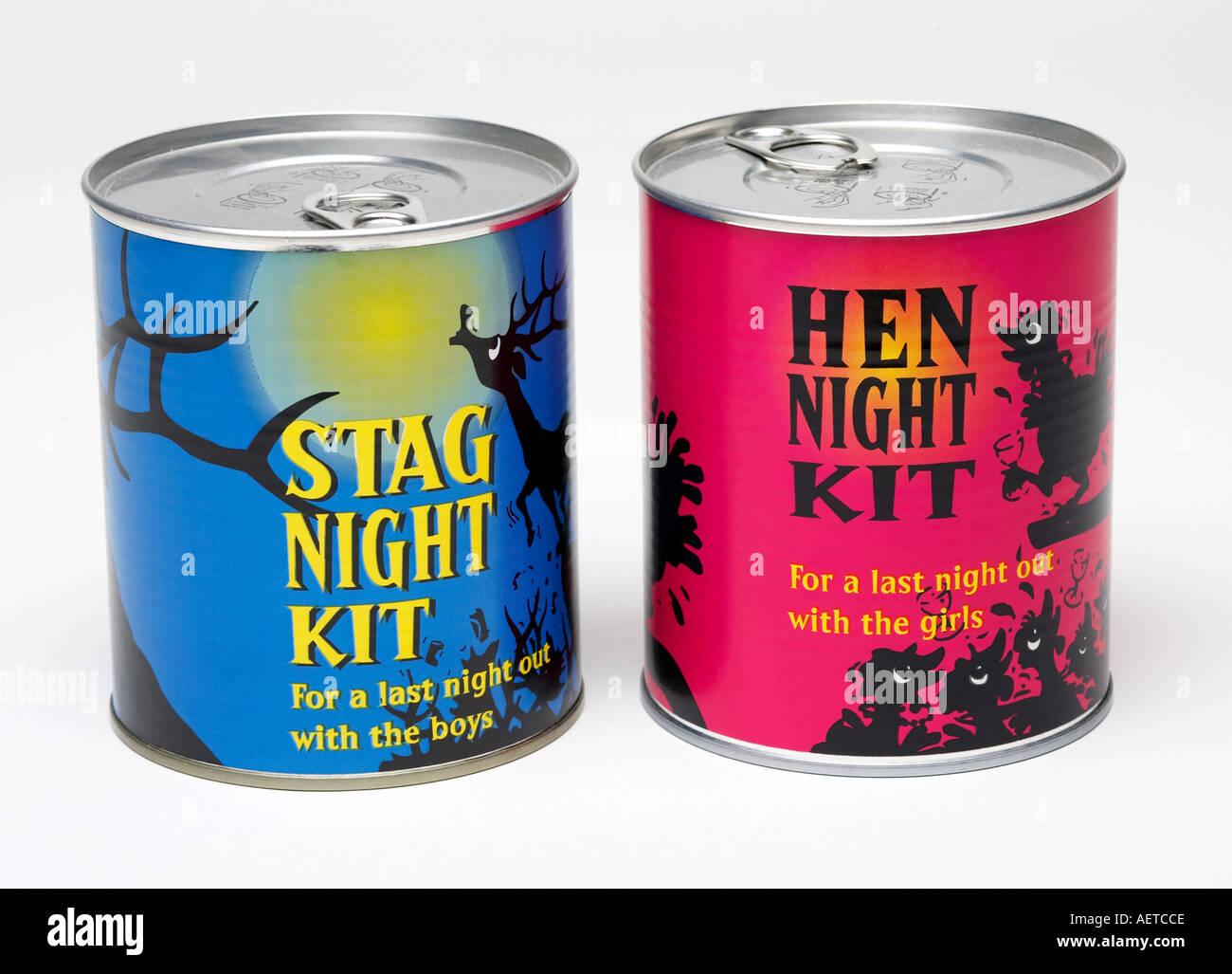 Stag et Hen nuit blague des cadeaux de mariage Photo Stock