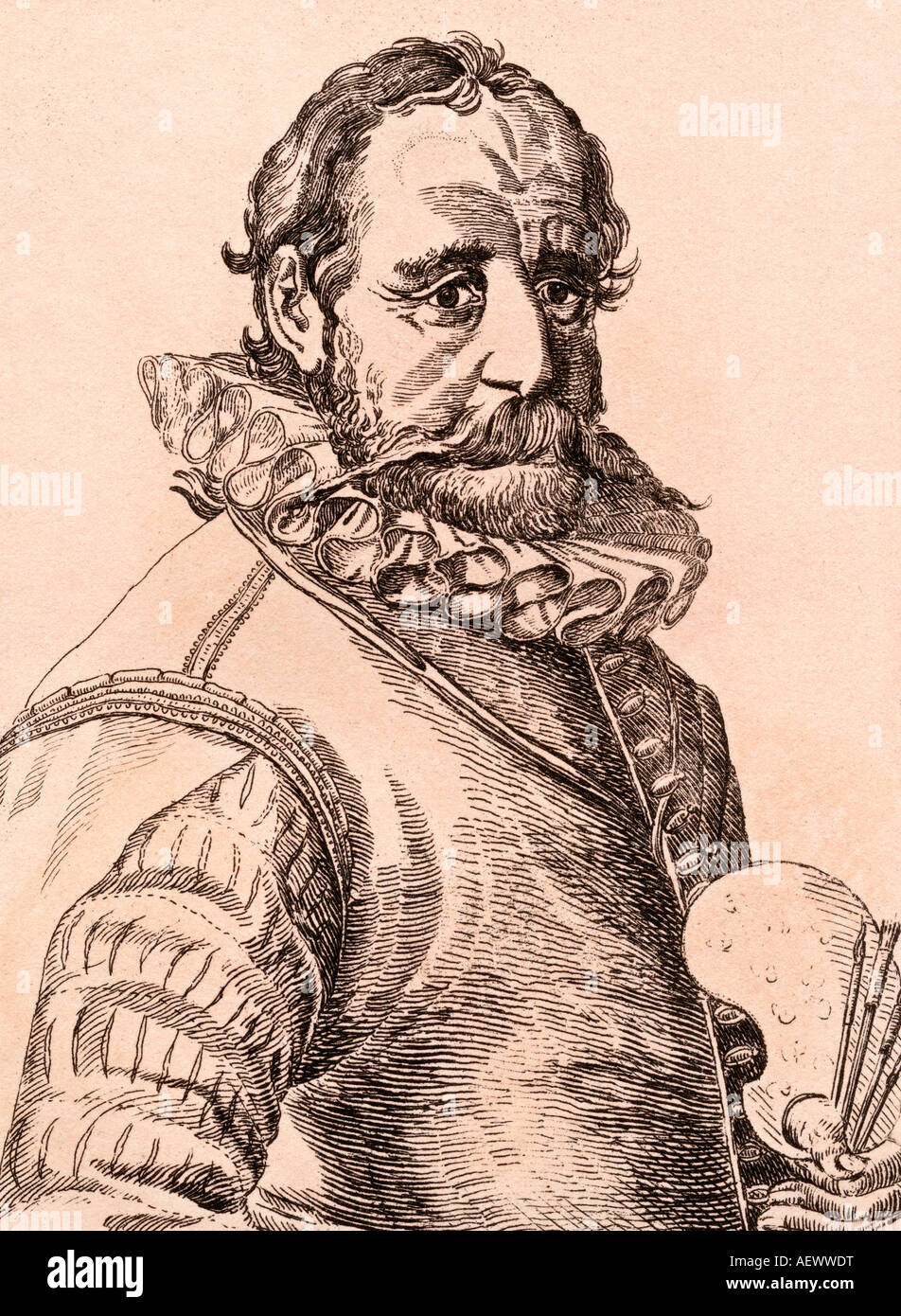 Hans Bol 1534 1593 artiste flamand Photo Stock