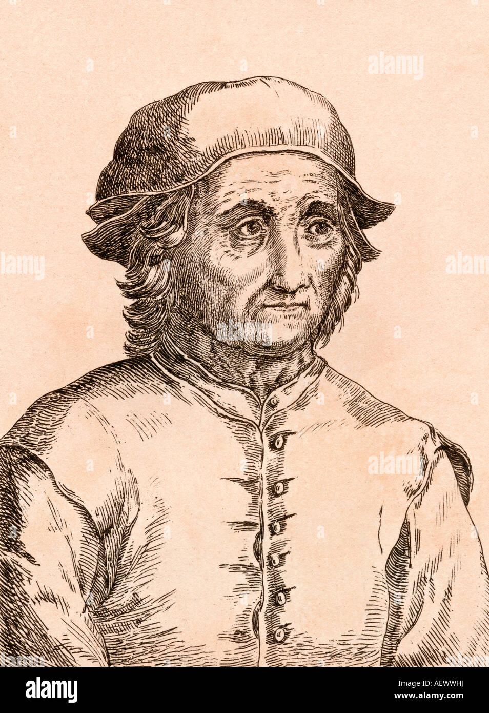 Jérôme Bosch, vers 1450 à 1516. L'artiste néerlandais. Photo Stock