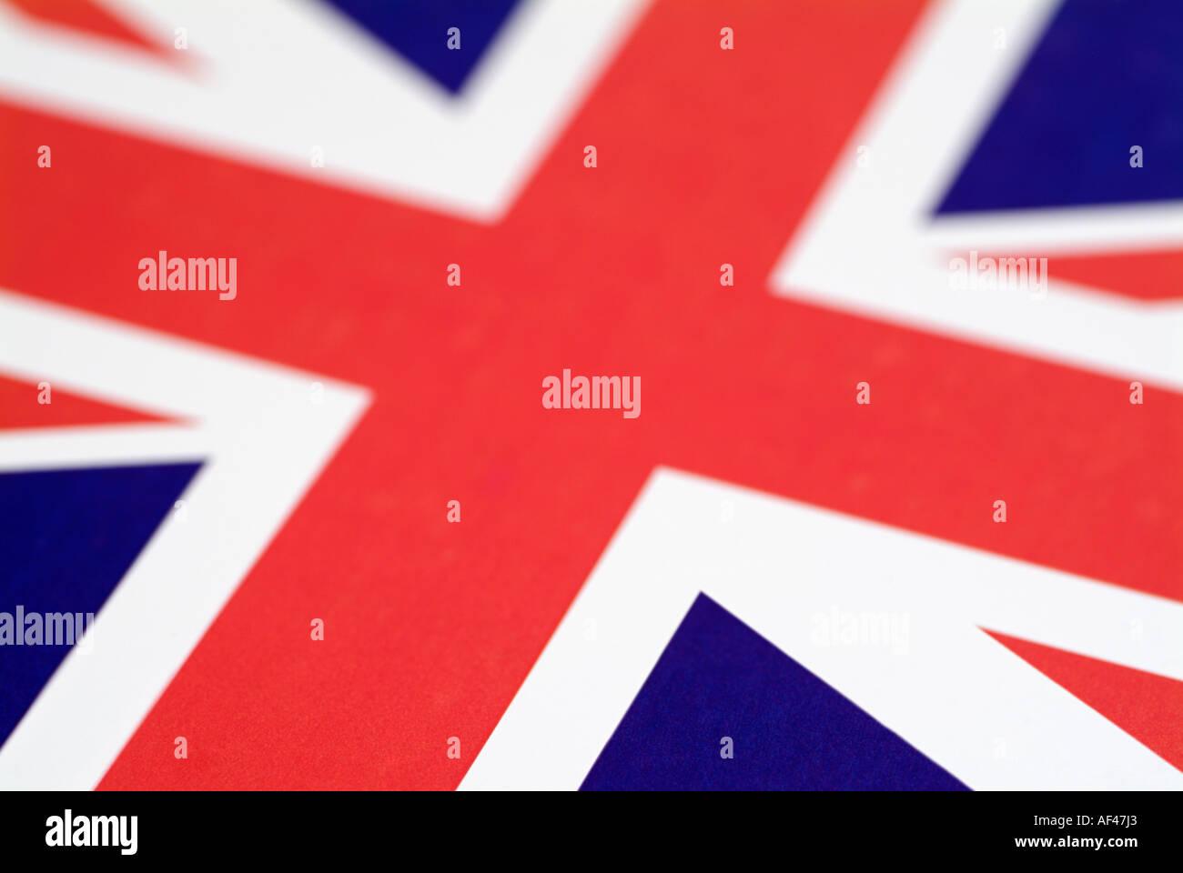British Union Jack Flag Banque D'Images