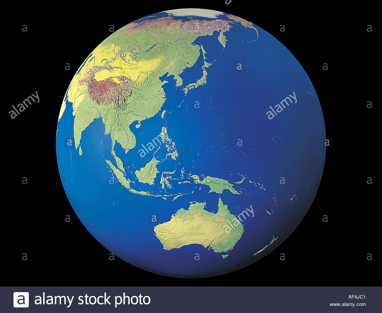 Carte Australie Chine.Globe Globe Terrestre Carte Asie Australie Chine Indochine Banque D