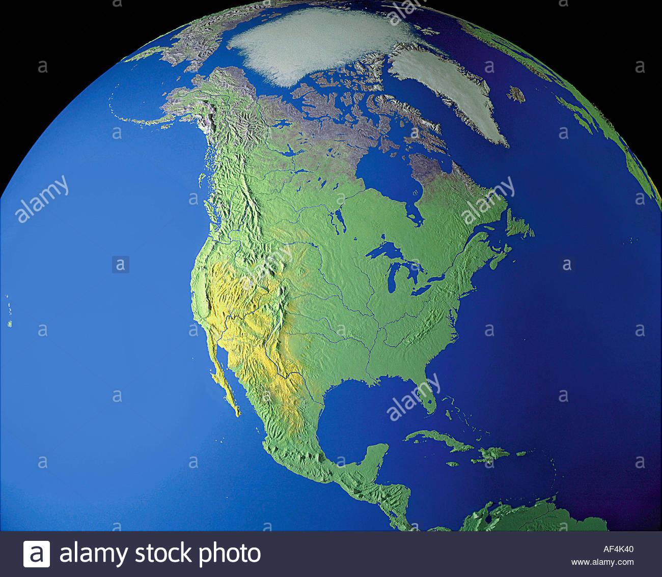 Carte Usa Canada Mexique.Cartes Carte Du Monde Globe Terrestre En Amerique Du Nord