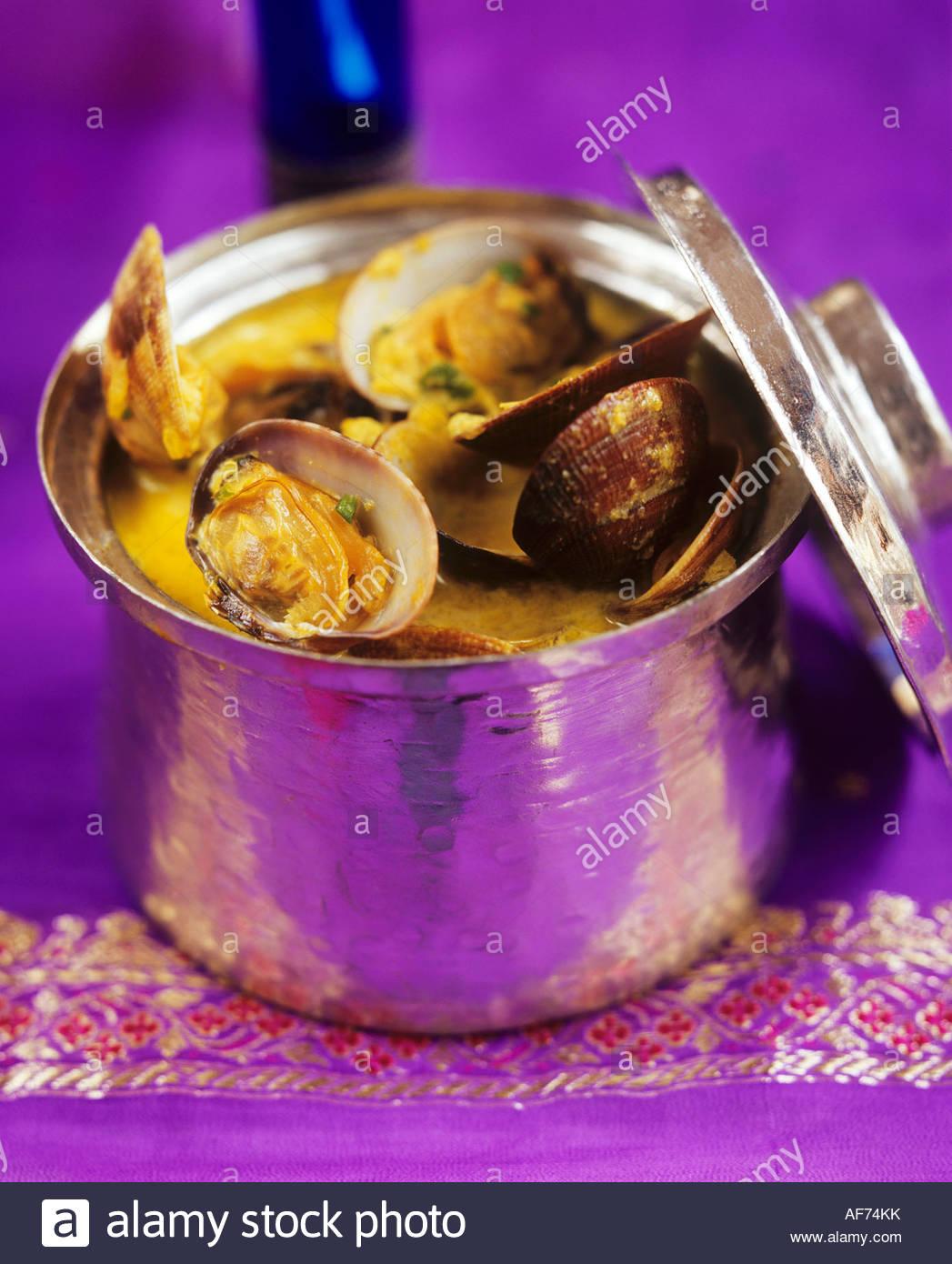 Les fruits de mer dans la sauce Goan, Inde Photo Stock