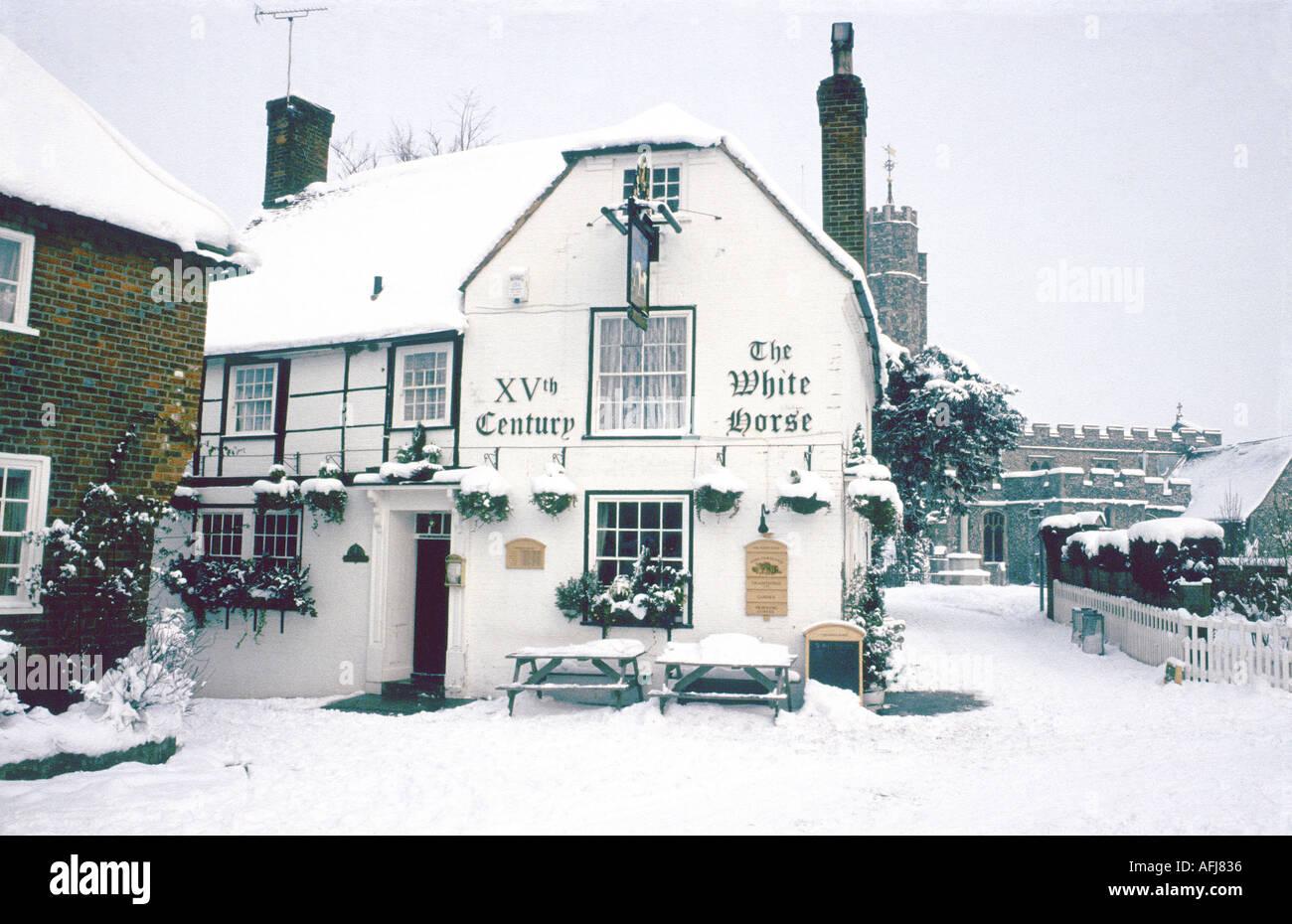 White Horse pub chilham kent Banque D'Images