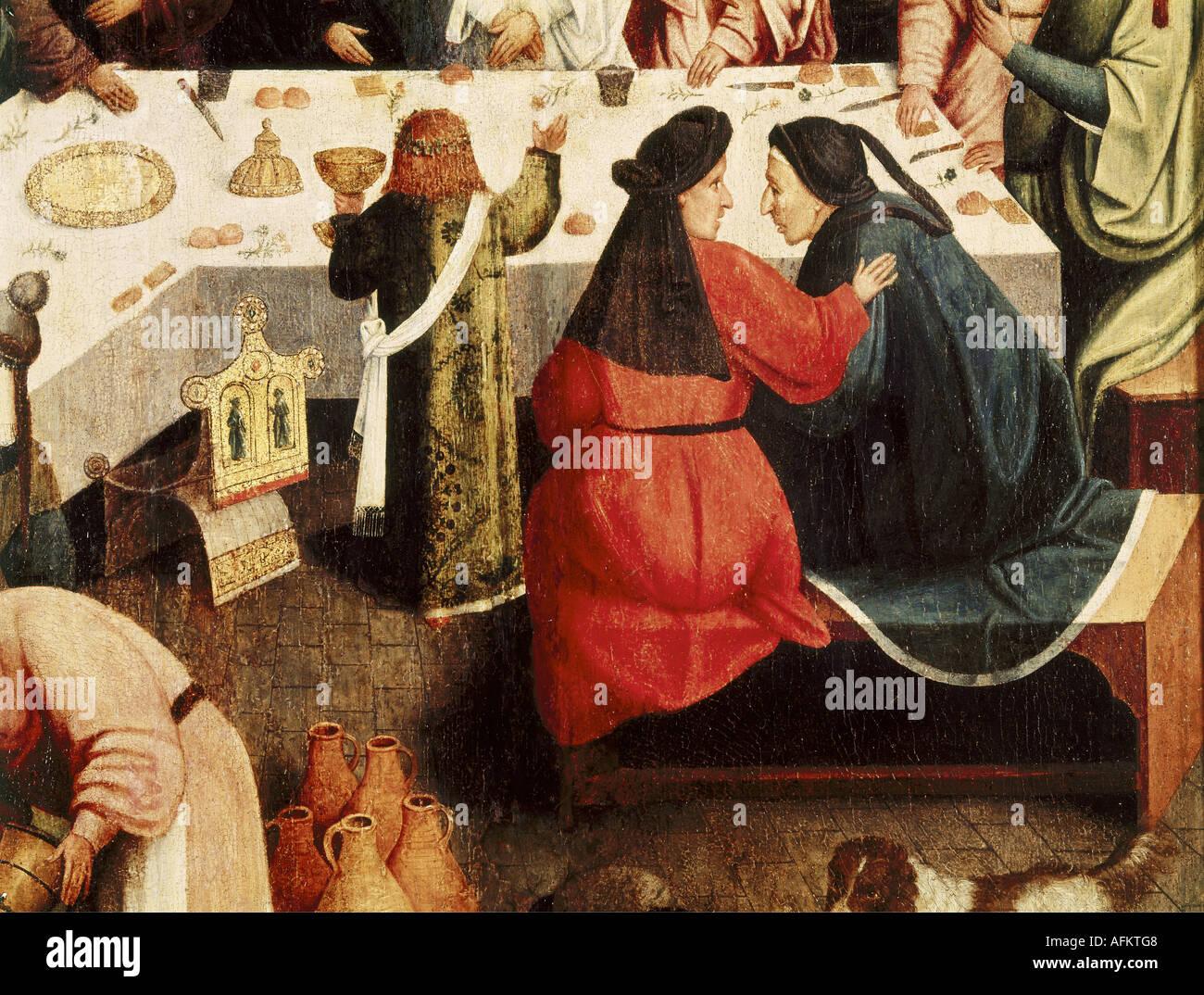 'Fine Arts, art religieux, peinture, 'mariage fête à Cana', artiste inconnu, après 1554, huile sur panneau, 93 cm x 72 cm, Boyman Photo Stock