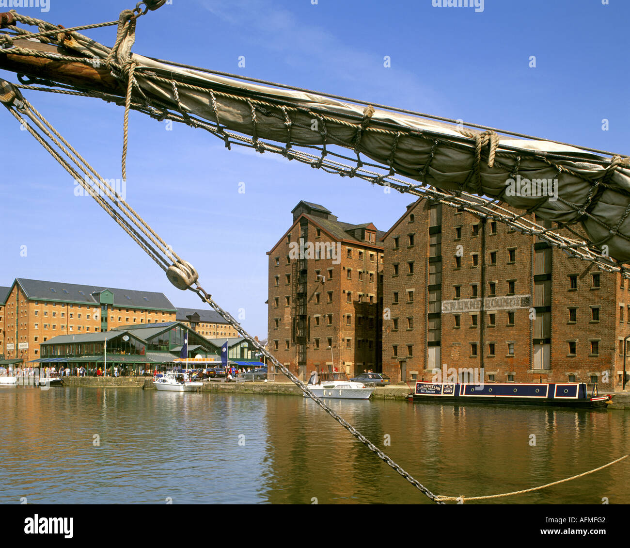Go - GLOUCESTERSHIRE : Gloucester Docks historiques Photo Stock