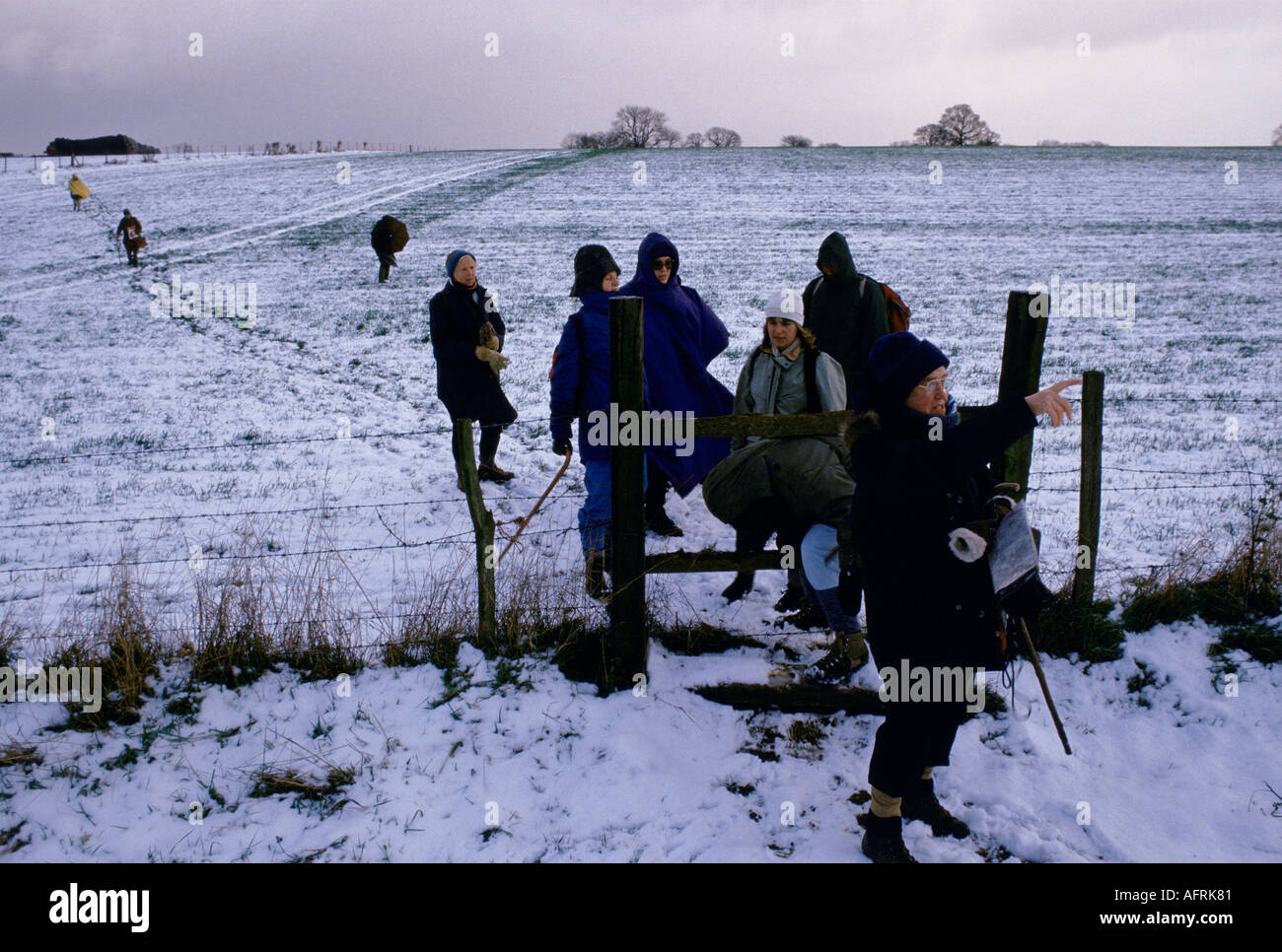 Association Ramblers South Downs Sussex England HOMER SYKES Photo Stock
