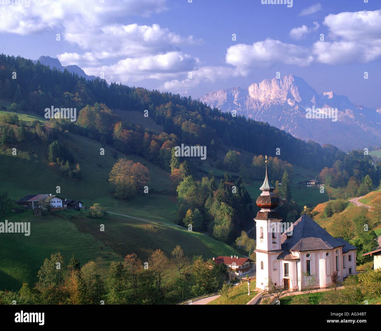 DE - La Bavière: Église de Maria Gern près de Barchtesgaden Photo Stock