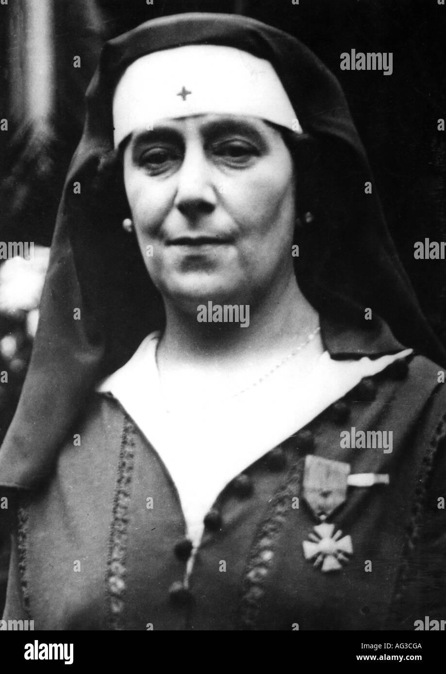 La Baronne de ROTHSCHILD, Mathilde, 1872 - 1926, comme infirmière pendant la Première Guerre mondiale 1914 - 1918, nom de naissance Mathilde Weissweiller, service médical, France, 20e siècle, , Additional-Rights-Jeux-NA Photo Stock