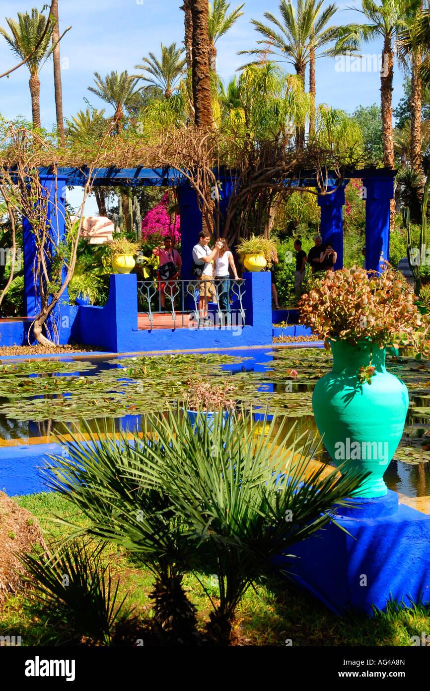 Maroc Marrakech Jardin Majorelle Cree Par Yves Saint Laurent