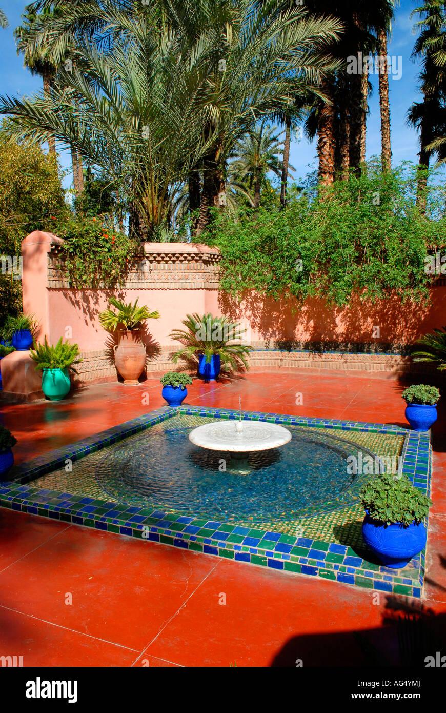 Jardins Majorelle Marrakech Maroc Cree Par Yves Saint Laurent Et