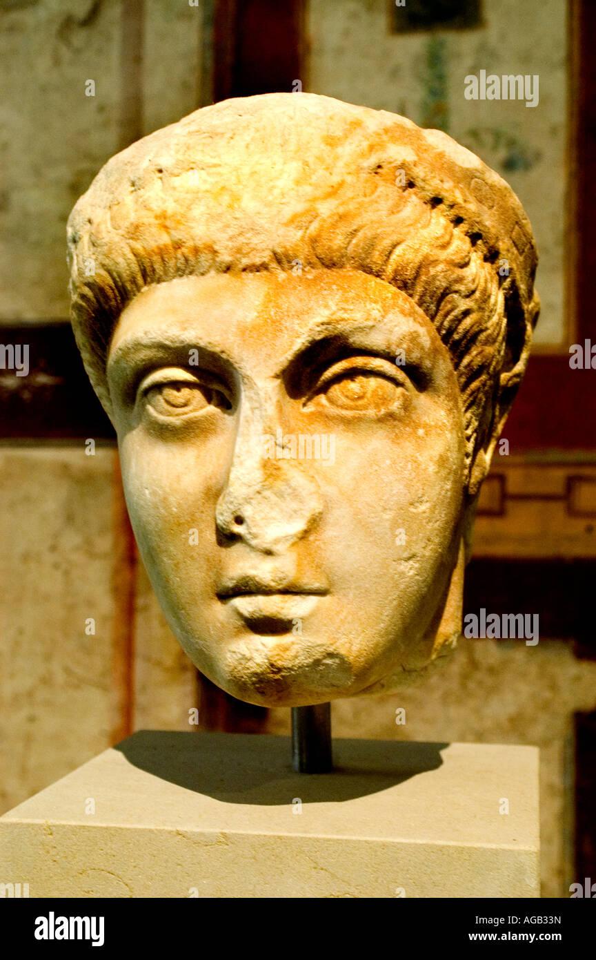 Arcadius Flavius Arcadius AD 390400 était empereur romain dans la moitié orientale de l'Empire romain Photo Stock