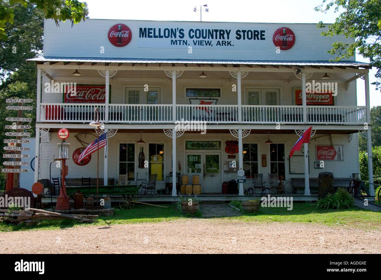 Mellon's Country Store à Mountain View, Arkansas. Banque D'Images