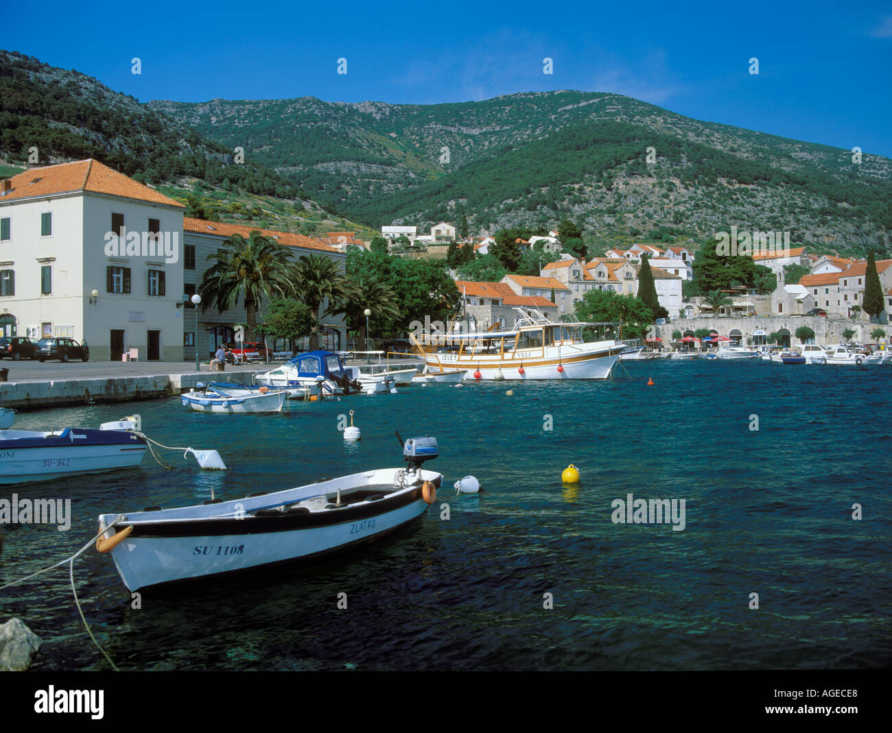 L'île de Brac Croatie Bol Photo Stock