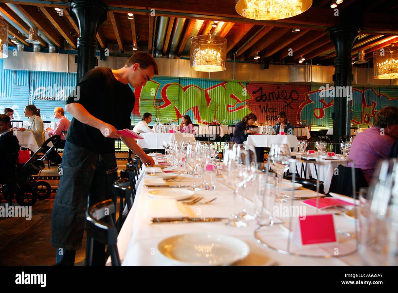15 Jamie Oliver restaurant Nouveau restaurant au Pakhuis Amsterdam Pays-Bas Photo Stock