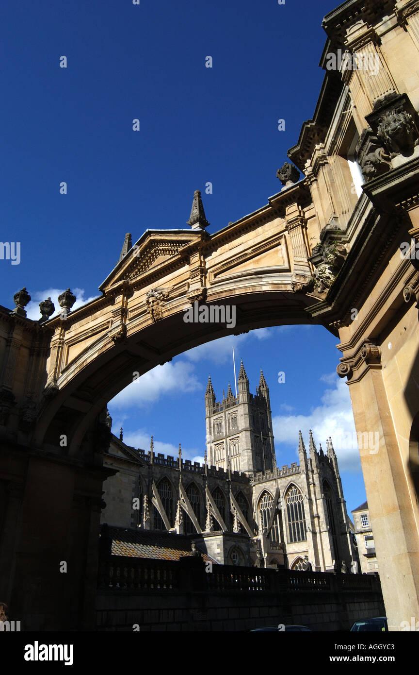 L Abbaye De Bath Par Arch Baignoire Sur La Rue York Royaume Uni
