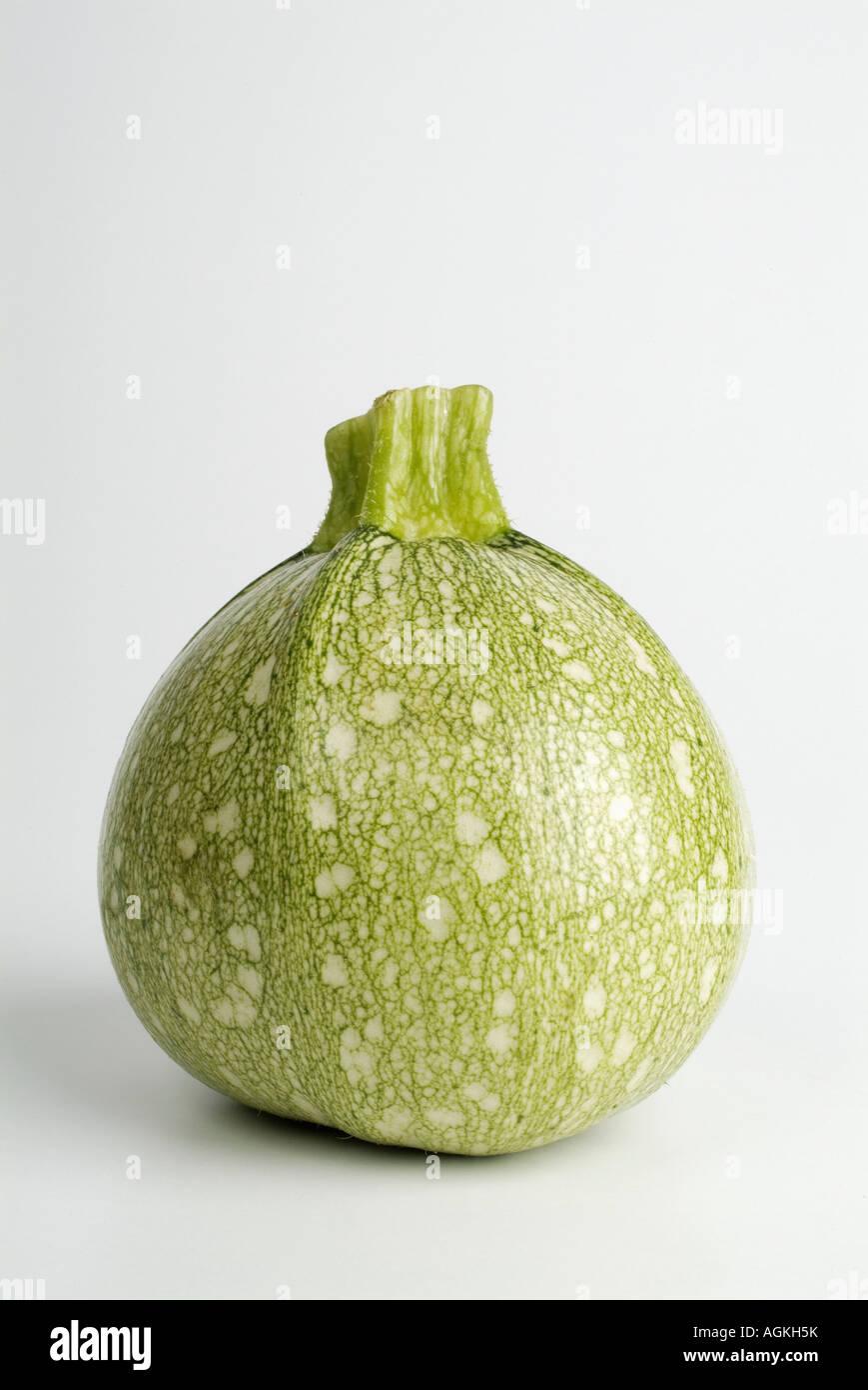 Painet JN0915 rond marrow plus rond blanc vert frais de régime alimentaire Courgettes Légumes santé Photo Stock