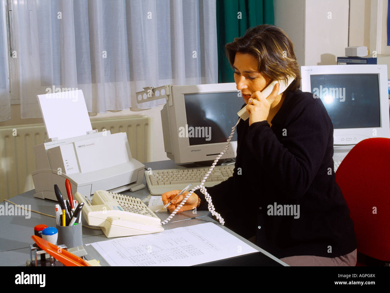 Telephone Operator Switchboard Banque d'image et photos - Alamy
