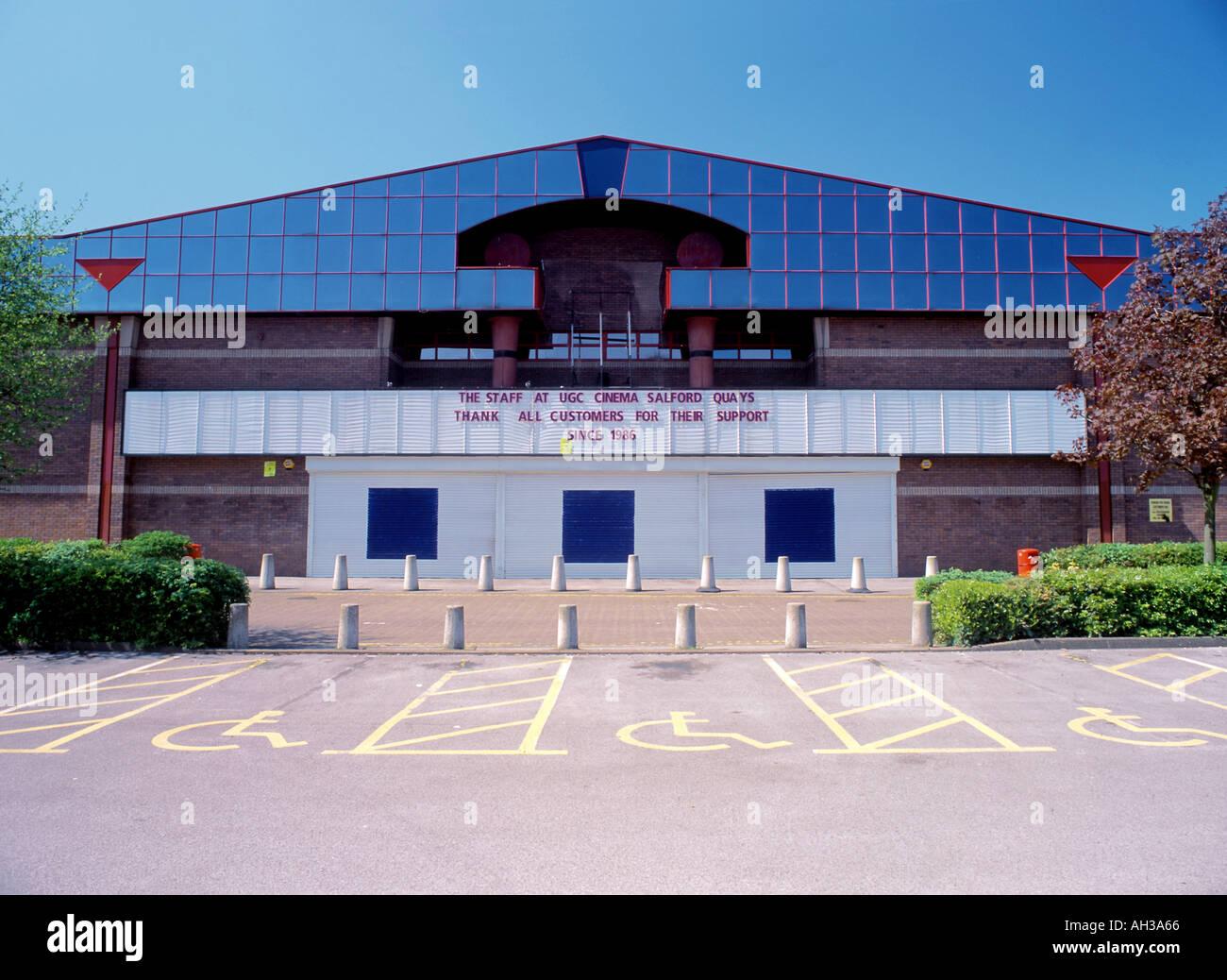 Fermé cinema Salford Quays Photo Stock