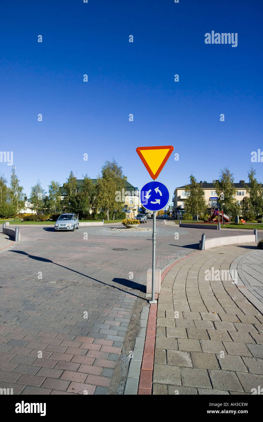 compulsory roundabout traffic sign photos compulsory roundabout traffic sign images alamy. Black Bedroom Furniture Sets. Home Design Ideas