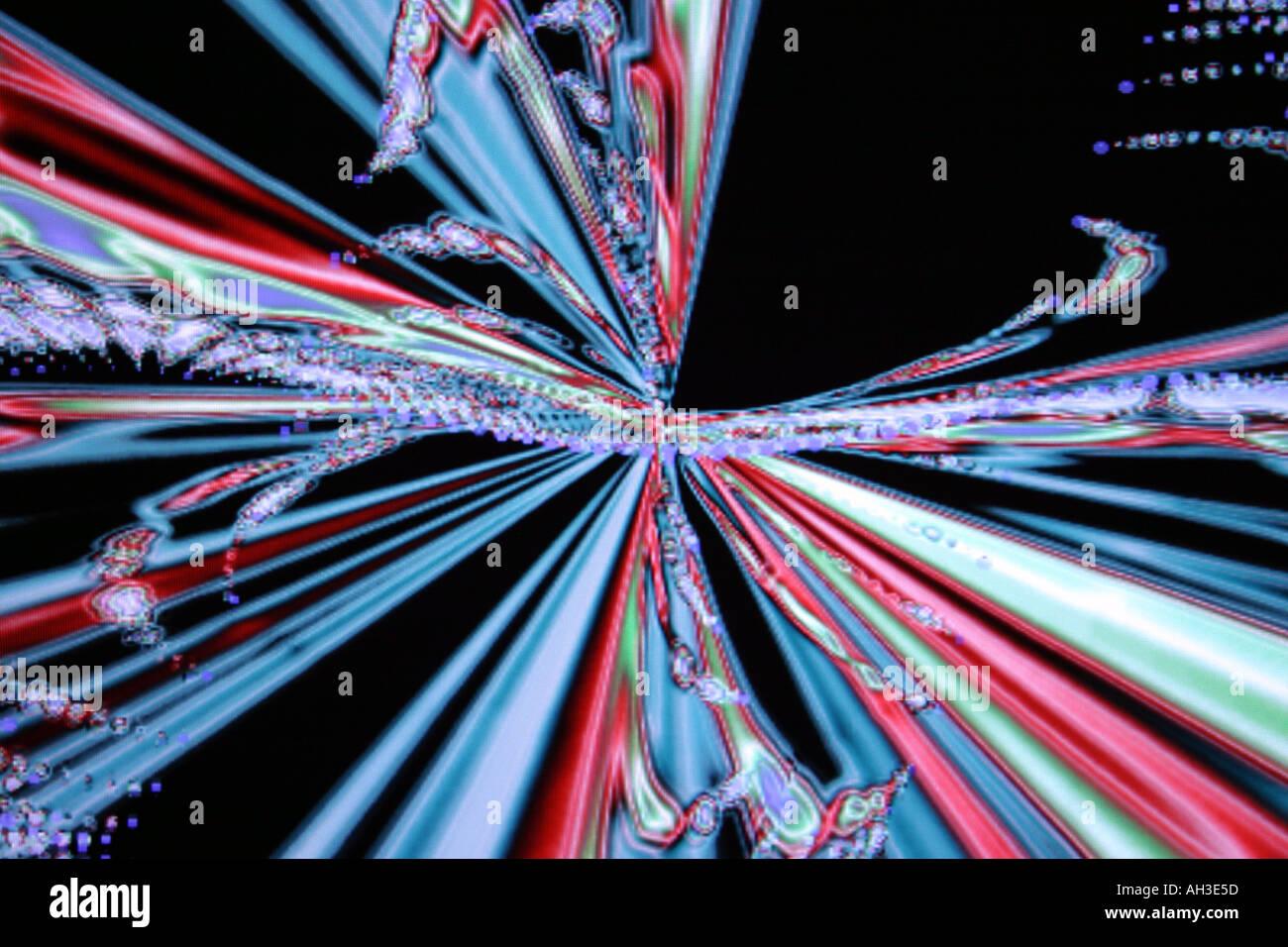 Conceptuel abstrait conceptuel fonds colorés hi tech surréaliste d'effets spéciaux Photo Stock