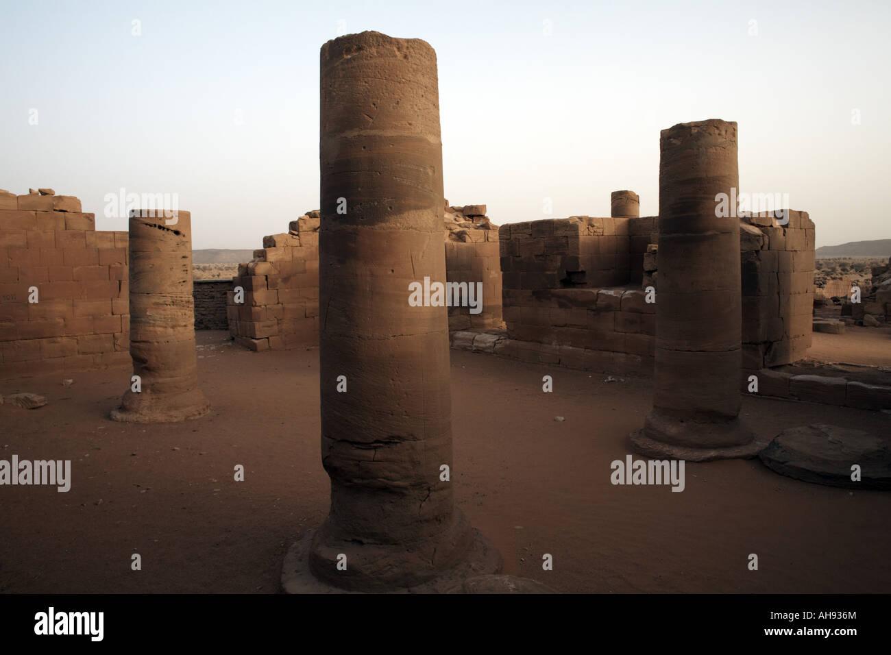 100 Temple dans la Grande Enceinte de Musawwarat es Sufra, Soudan, Afrique Photo Stock