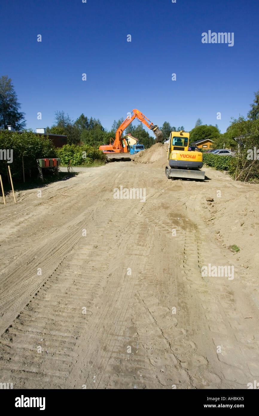 Excavateurs Banque D'Images