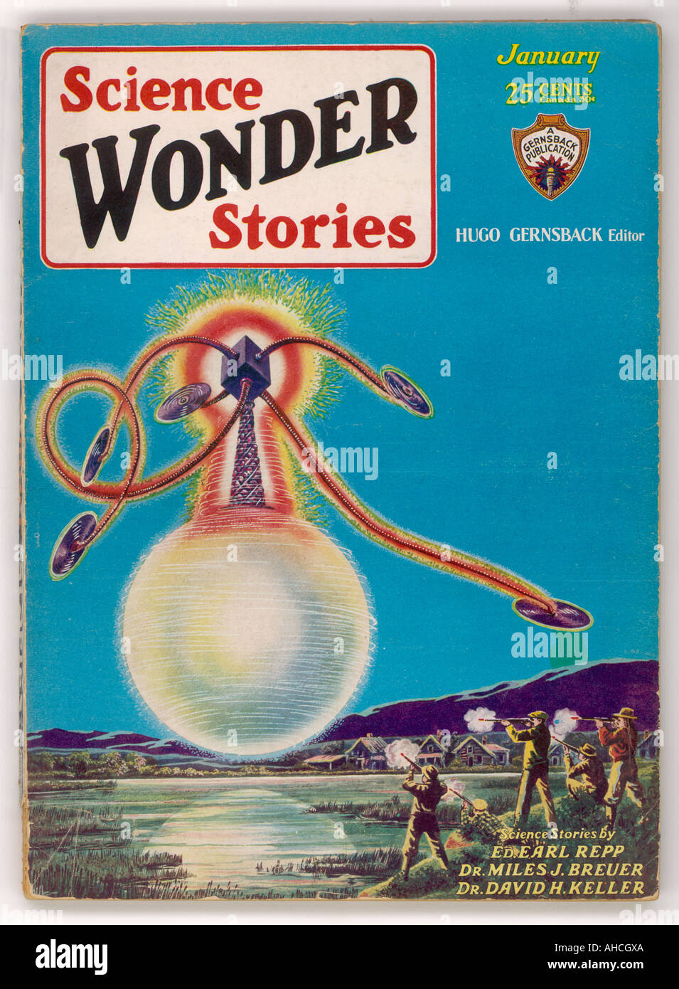 Histoires de science Wonder 1930 Photo Stock