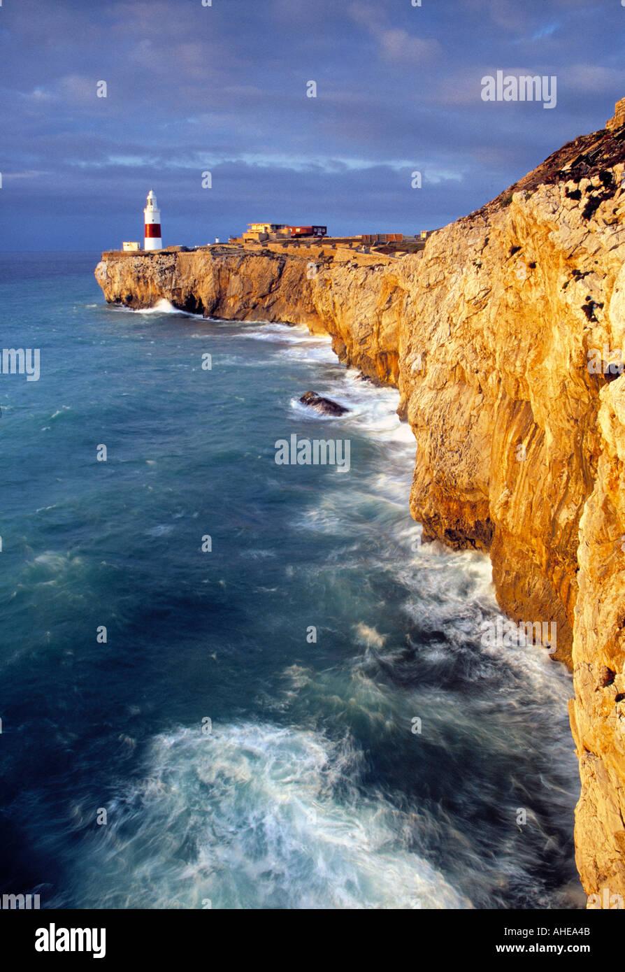 Phare, Europa Point, Gibraltar Photo Stock