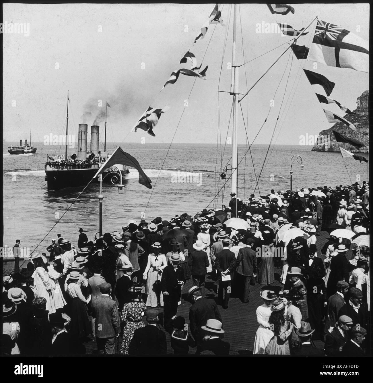 Foule de navires à vapeur 1899 Photo Stock