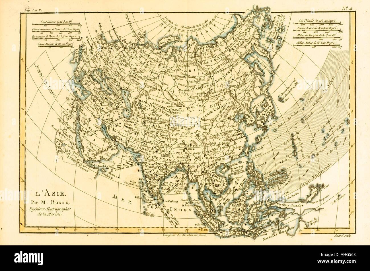 Carte De Toute Lasie.Carte De L Asie Vers 1760 D Atlas De Toutes Les Parties