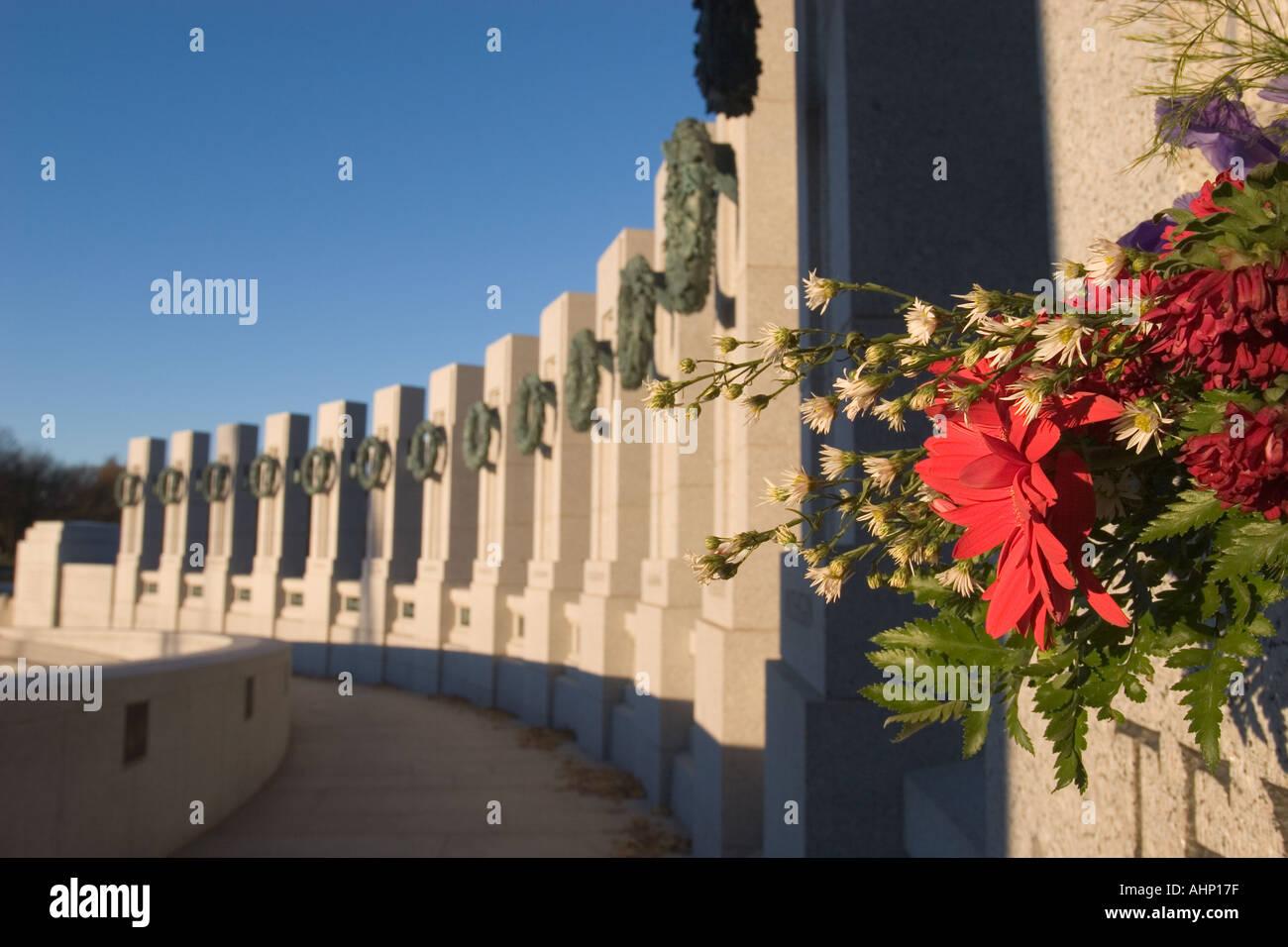 Monument commémoratif de la Seconde Guerre mondiale à Washington Banque D'Images