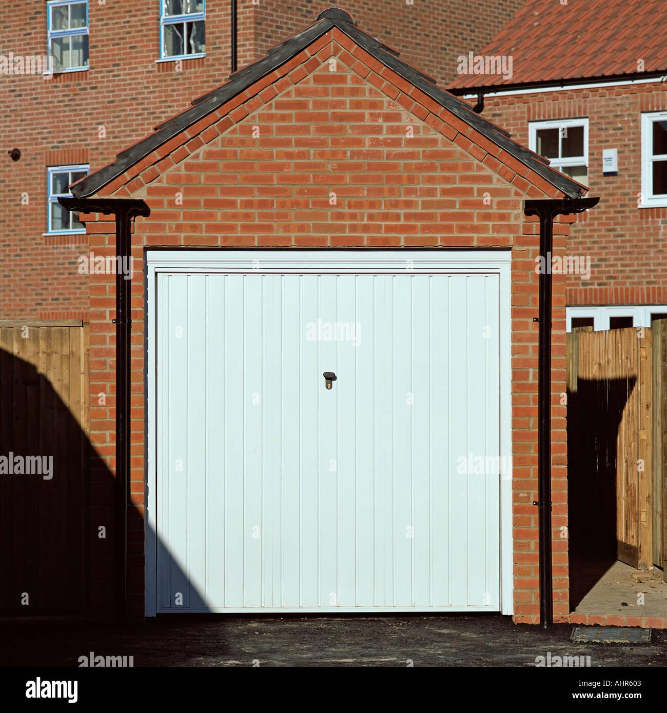 Porte de garage fermé Banque D'Images